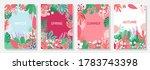 vector set floral background ...   Shutterstock .eps vector #1783743398