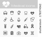 medical icons | Shutterstock .eps vector #178374362