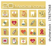 medical icons | Shutterstock .eps vector #178374368