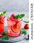 Strawberry Lime Mojito With...