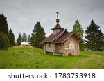 Small Wooden Chapel In Summer...