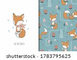 cute baby fox with scarf ... | Shutterstock .eps vector #1783795625