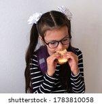 portrait schoolgirl  is biting... | Shutterstock . vector #1783810058