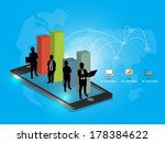 business team with business...   Shutterstock .eps vector #178384622