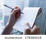 close up of woman hands with... | Shutterstock . vector #178385018