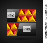 business glossy card abstract... | Shutterstock .eps vector #178385318