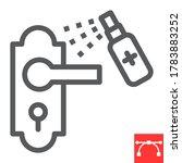 disinfection door handle line... | Shutterstock .eps vector #1783883252