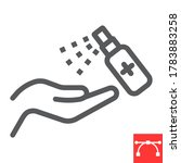 hand sanitizer line icon ... | Shutterstock .eps vector #1783883258