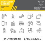 disinfection line icon set ... | Shutterstock .eps vector #1783883282