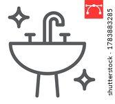 washbasin line icon  hygiene... | Shutterstock .eps vector #1783883285