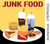 colorful fast food vector... | Shutterstock .eps vector #1783902512