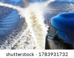 Motor Boat Engine At High Spee...