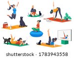 yoga doing activities. yoga... | Shutterstock .eps vector #1783943558