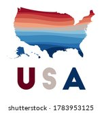 usa map. map of the country... | Shutterstock .eps vector #1783953125