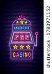 slot machine neon sign. bright...   Shutterstock .eps vector #1783971152