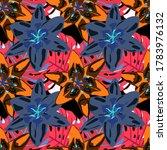 rainforest flowers and leaves....   Shutterstock .eps vector #1783976132