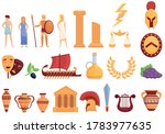 ancient greece icons set.... | Shutterstock .eps vector #1783977635
