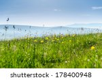 green hills and meadow with... | Shutterstock . vector #178400948