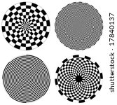 Checkerboard Spirals  Dartboar...