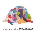 dirty clothes pile. messy... | Shutterstock .eps vector #1784020442