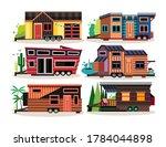 small tiny houses. modern... | Shutterstock .eps vector #1784044898