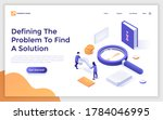 landing page template with...   Shutterstock .eps vector #1784046995