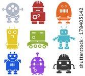 robot icons | Shutterstock .eps vector #178405142