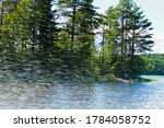 Speedboat Racing At High Speed...