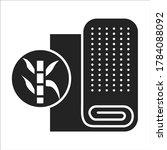 cotton fabric black line icon....