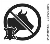 cruelty free black line icon....