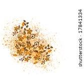 vector floral background | Shutterstock .eps vector #17841334