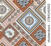 seamless patchwork pattern on... | Shutterstock .eps vector #1784140502