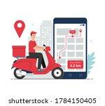 online delivery concept....   Shutterstock .eps vector #1784150405