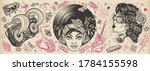 funk music. old school tattoo... | Shutterstock .eps vector #1784155598