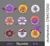 set of colorful halloween... | Shutterstock .eps vector #1784173202