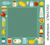 food frame. vector illustration.   Shutterstock .eps vector #178417352