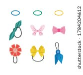 isolated hair accessories set   ... | Shutterstock .eps vector #1784204612