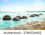 Spheric Moeraki Boulders On The ...