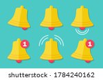 set of notification bell icons... | Shutterstock .eps vector #1784240162