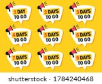 set of number of days left to... | Shutterstock .eps vector #1784240468