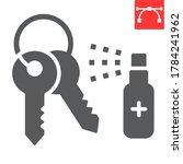 disinfection keys glyph icon ... | Shutterstock .eps vector #1784241962