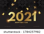 happy new 2021 year elegant...   Shutterstock .eps vector #1784257982