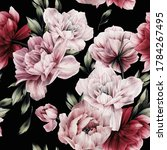 seamless floral pattern with... | Shutterstock . vector #1784267495