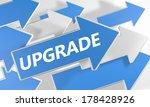 upgrade 3d render concept with...   Shutterstock . vector #178428926