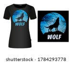 the wolf symbol howling on the... | Shutterstock .eps vector #1784293778