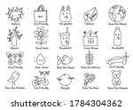 set of isolated vector eco... | Shutterstock .eps vector #1784304362