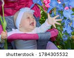 Baby Screams In Flowers Crying...