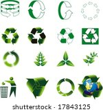 vector logo for ecology | Shutterstock .eps vector #17843125