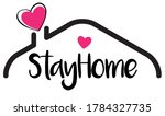 stay at home slogan. protection ... | Shutterstock .eps vector #1784327735
