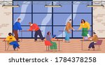 office staff  work and...   Shutterstock .eps vector #1784378258